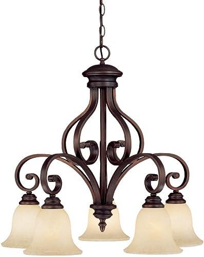 Kichler 42196OZ Drum Pendant Lighting, Bronze 5-Light 30 W x 12 H 500 Watts