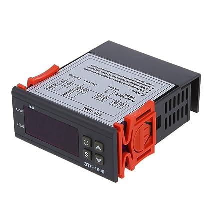 Controlador de temperatura - SODIAL(R)220V Digital STC-1000 Controlador de temperatura