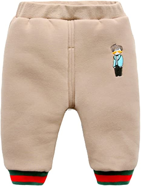 Cwait Winter Casual Toddler Kids Snow Pants Girl Boy Thicker Warm Pants Trousers 0-3T