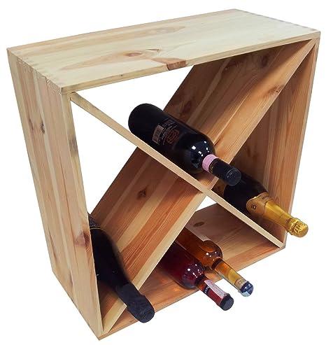 Mobile cantinetta porta bottiglie triangoli 3 scomparti vino in ...