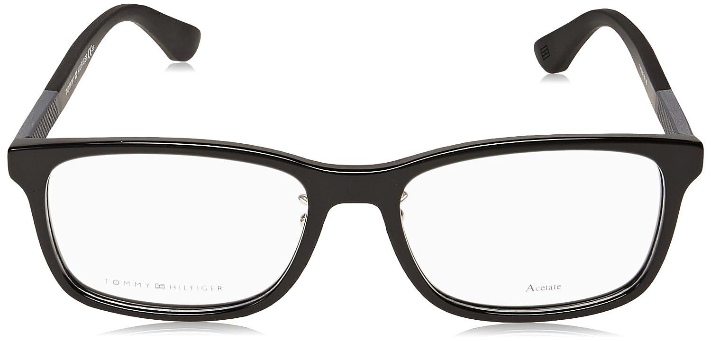 f8d6e10664 Tommy Hilfiger frame (TH-1568-F 807) Acetate Shiny Black - Matt Black at  Amazon Men s Clothing store