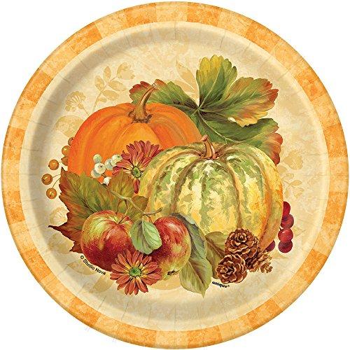 Pumpkin Harvest Fall Dessert Plates, 8ct