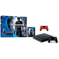 Sony Sony PlayStation 4 500GB Console - Uncharted 4 Limited Edition Bundle with Dual Shock 4 Wireless Controller -Magma Red - PlayStation 4