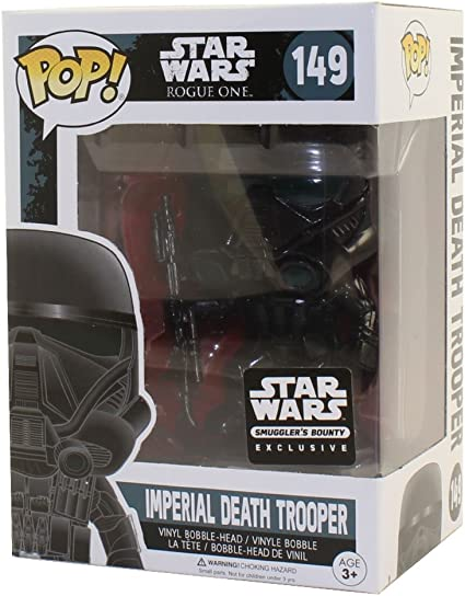 Star Wars Smugglers Bounty Exclusive Rogue One Imperial Death Trooper #149 Vinyl Figure Bundled with Pop Box Protector CASE Funko Pop