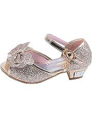 hebang HB Girls Princess Shoes Glitter Low Heel Dance Party Shoes Sandals