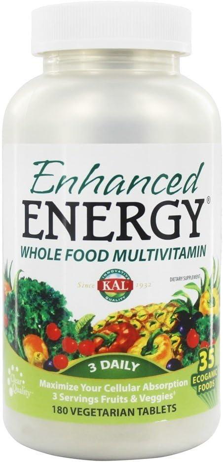 Enhanced Energy Wholefood Multivitamin Kal 180 Tabs