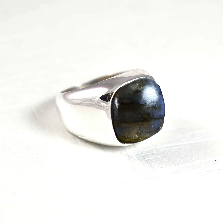 925 Silver Ring Labradorite Gemstone