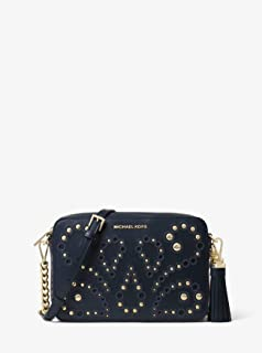 404eeff30f0a MICHAEL by Michael Kors Ginny Admiral Leather Studded Crossbody Bag