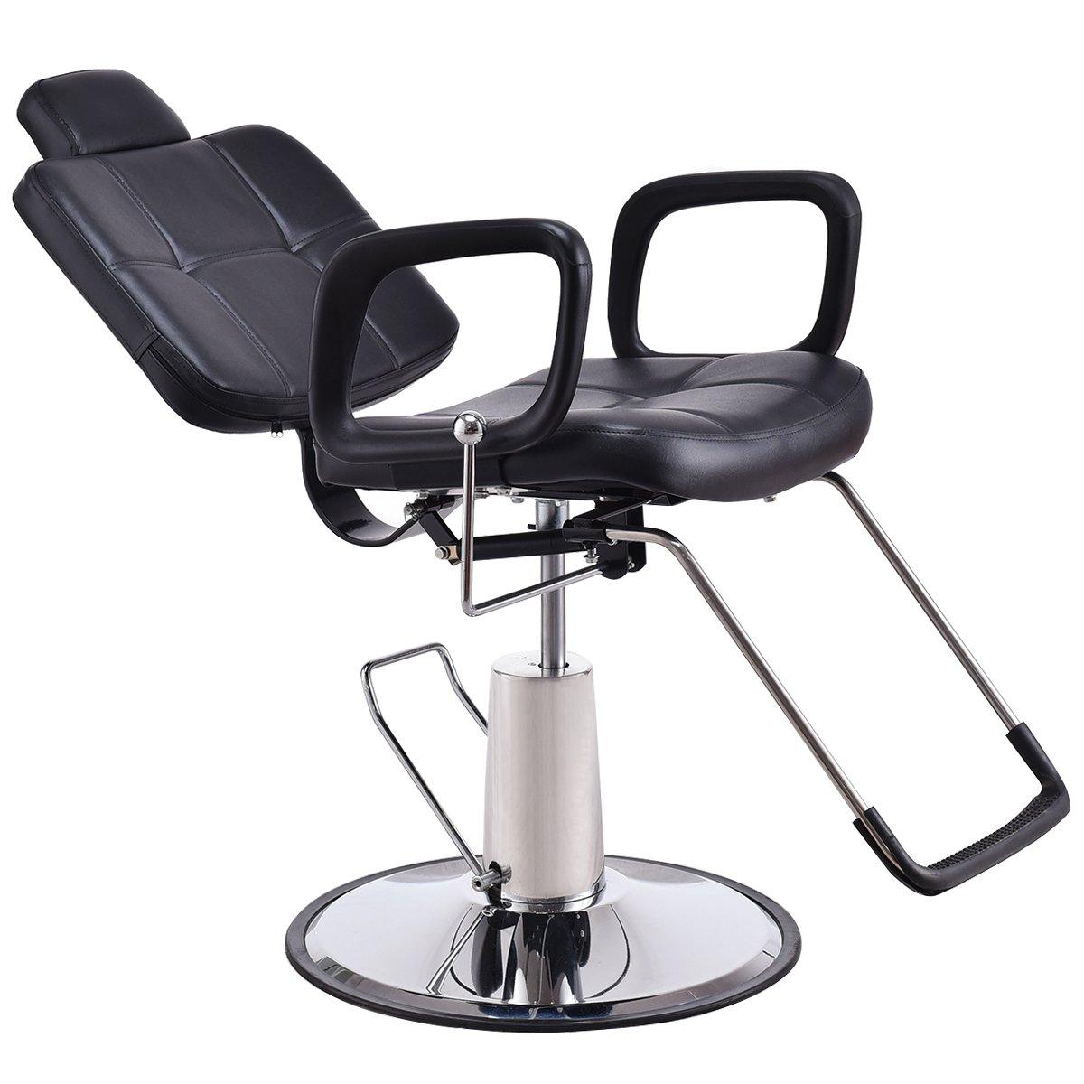 Miraculous Giantex Barber Chair Reclining Spa Spa Adjustable Hydraulic Pu Leather Cushioned Seat Comfortable Creativecarmelina Interior Chair Design Creativecarmelinacom