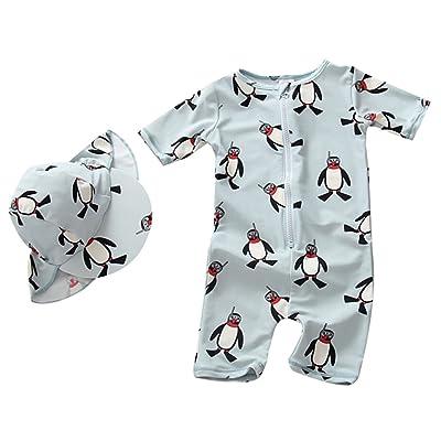 Baby Boys Girls One Piece Swimsuit Kids Penguin UV Sun Protective Bathing Suit Swimwear Surfing Suit UPF 50+