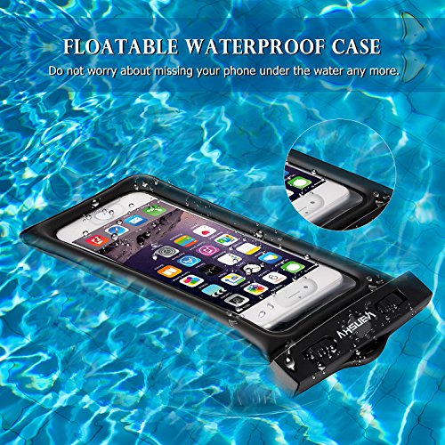 Floatable Waterproof Phone Case, Vansky Waterproof Phone Pouch Dry Bag with Armband and Audio Jack for iPhone X, 8 Plus, 8, 7 Plus, 7, 6s, 6, Andriod; TPU Construction IPX8 Certified by Vansky (Image #4)