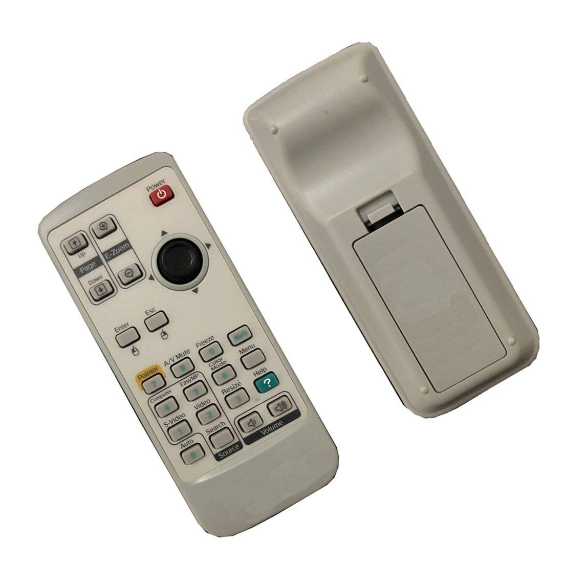 4EVER Replacment remote control for Epson Powerlite 83+ 83C 83H EX90 EB-410W projector by 4EVER E.T.C