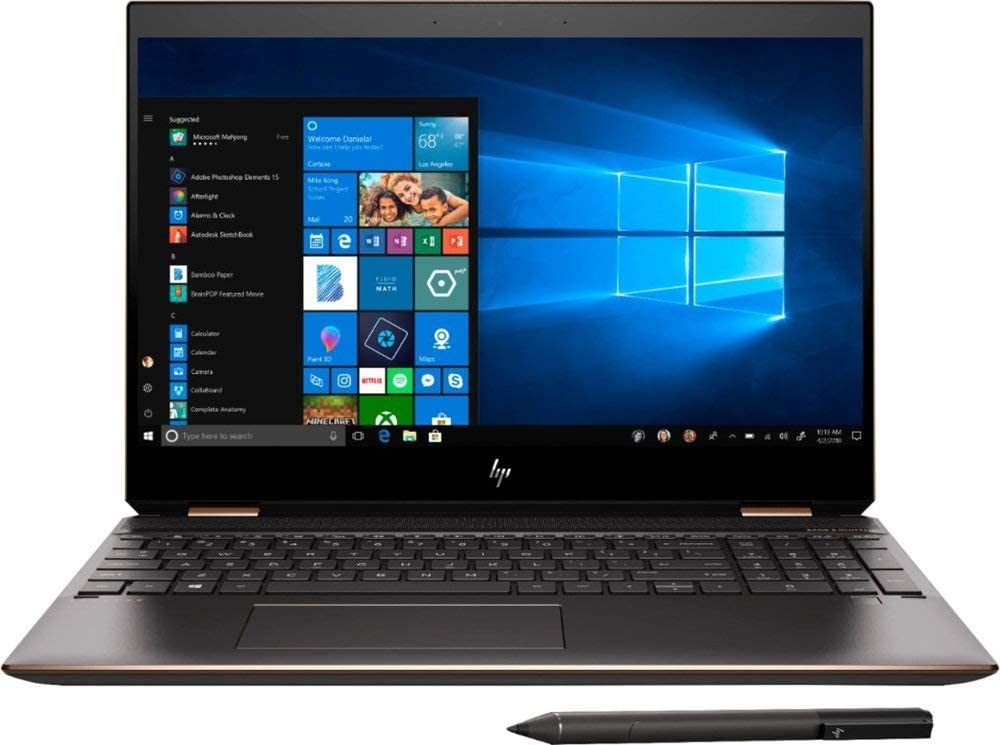 HP Spectre x360, 9th gen Gemcut 15t ,Touch 4K UHD,i7- i7 9750H Hexacore,NVIDIA GeForce GTX 1650 (4GB),1TB NVMe SSD,16GB RAM,Win 10 Pro Pre-Installed by HP, 64GB Neopack Flash Drive, HP Premium Wty