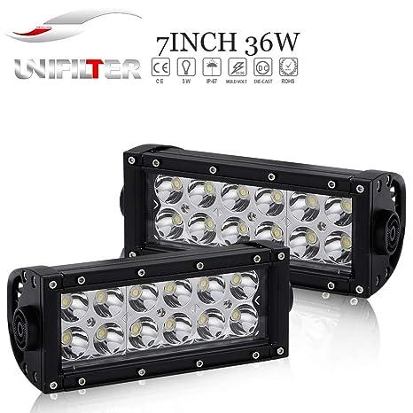 36W 7In Scheinwerfer Leiste Bar Fernlicht 12V-24V Reflektor Lampen Rückfahrscheinwerfer Led Zusätzlichen Strahler Vorderseite