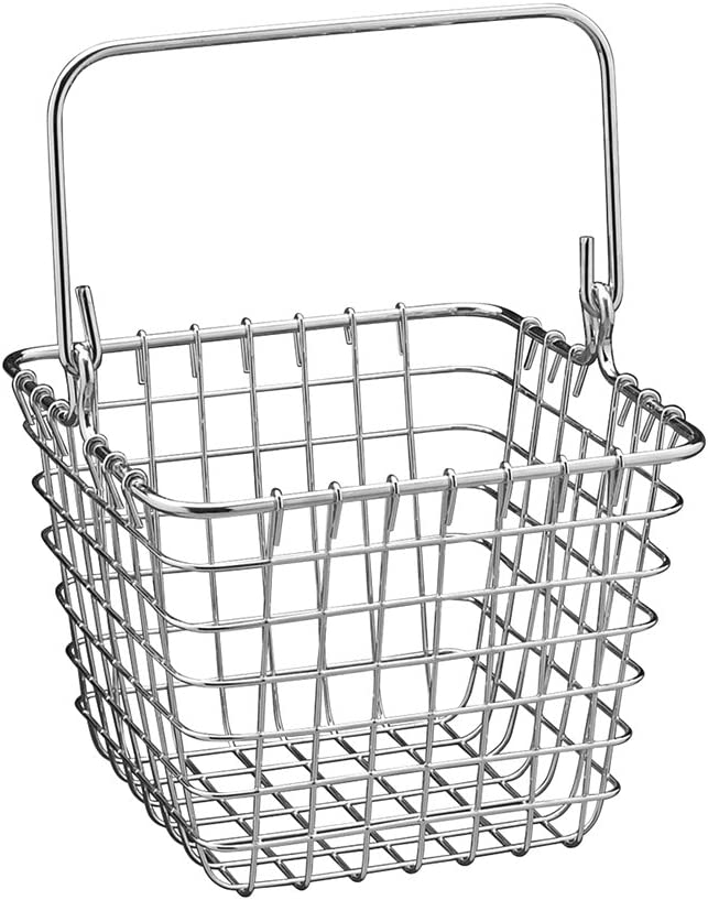 iDesign Century Works Wire Organizer Basket with Handle, 7 x 7, Chrome