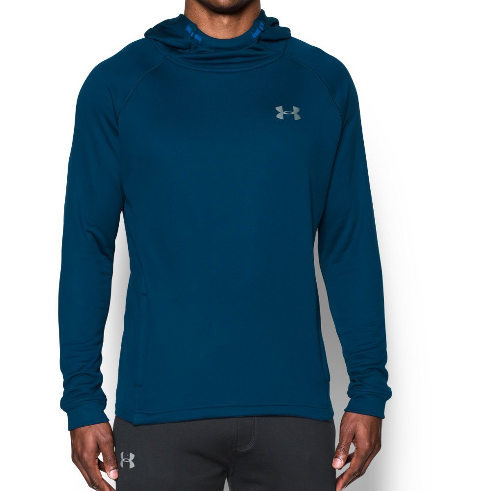 Under Armour Men's Tech Terry Hoodie, Blackout Navy /Silver, Large