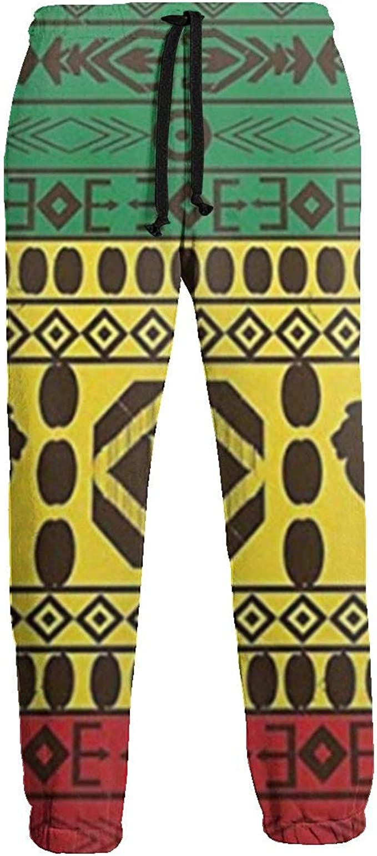 Ye Hua African Traditional Pattern Lions Rasta Jamaica Mens ...