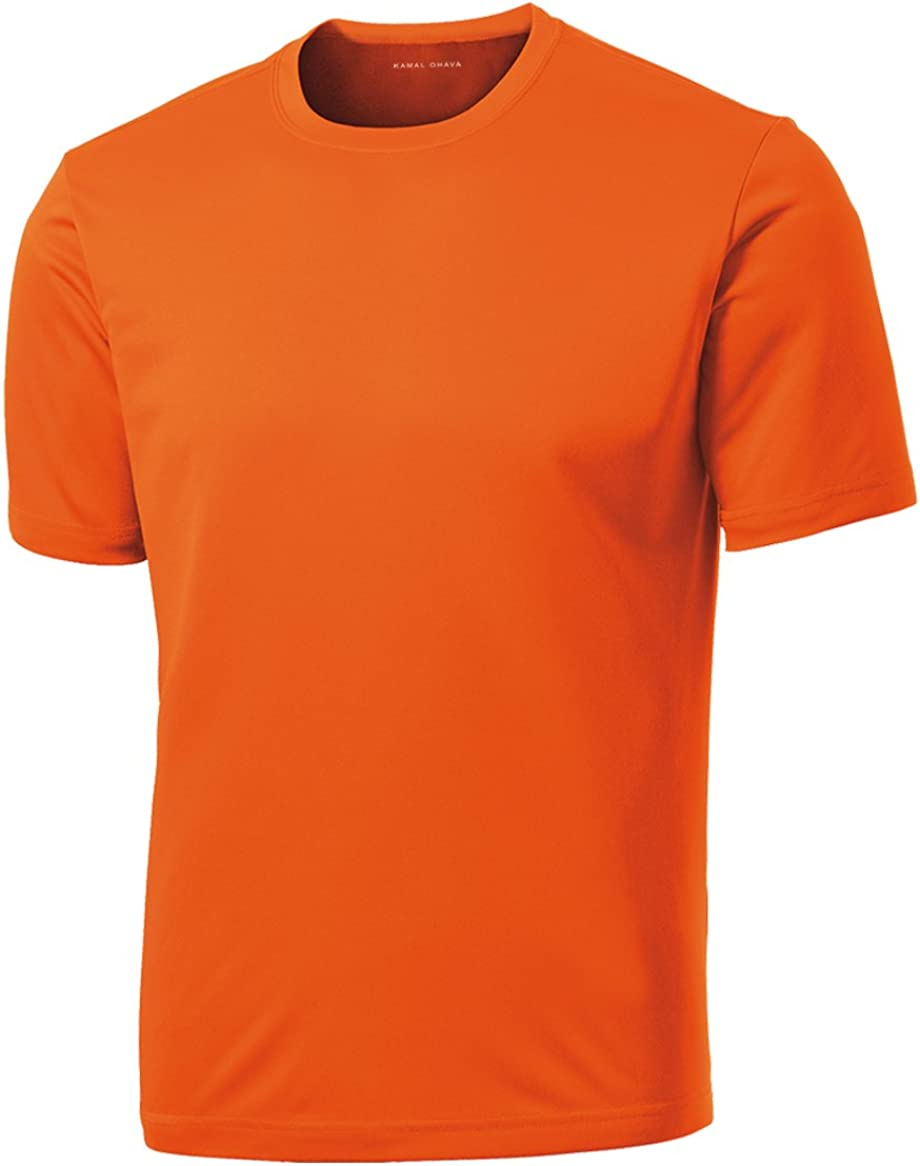 DRIEQUIP Men/'s Big /& Tall Short Sleeve Moisture Wicking Athletic T-Shirts