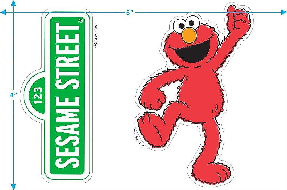 Sesame Street Elmo Face T Shirt /& Stickers