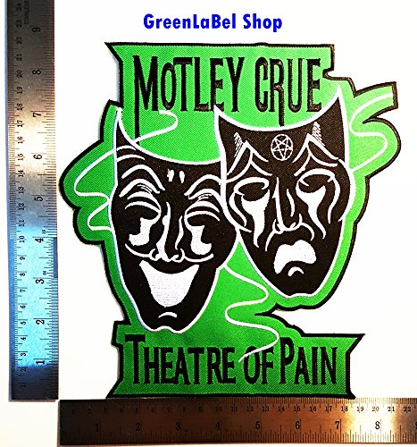 Big Large Jumbo Motley Crue Theatre Of Pain Punk Rock Heavy Metal Rock Music Band Patch Logo Sew Iron on Embroidered Appliques Badge Sign Costume Send Free Registration