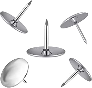 400 Thumb Tacks Push Pins,3/8 Inch Silver Round Head Pins Office Thumbtack Steel Push Pin for Home, School