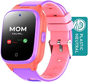 Cosmo JrTrack Kids Smartwatch - Voice and Video Call - GPS Tracker - SOS Alerts - Water Resistant - Blocks Unknown Numbers - SIM Card Included - (Pink)