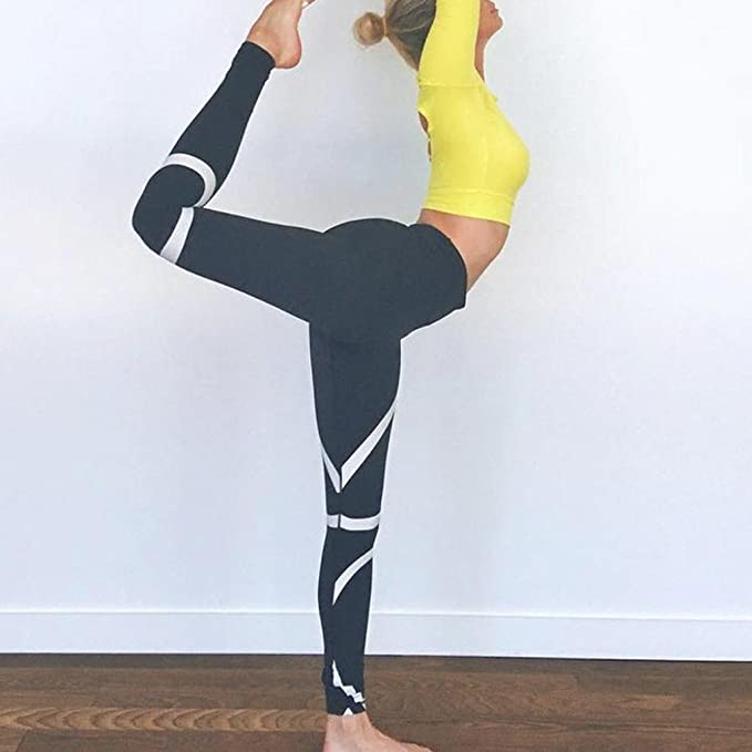 Pantalones Yoga Mujeres, Xinantime Polainas de Gimnasia de Entrenamiento Flaco Yoga de Empalme para Mujer Pantalones recortados Deportivos