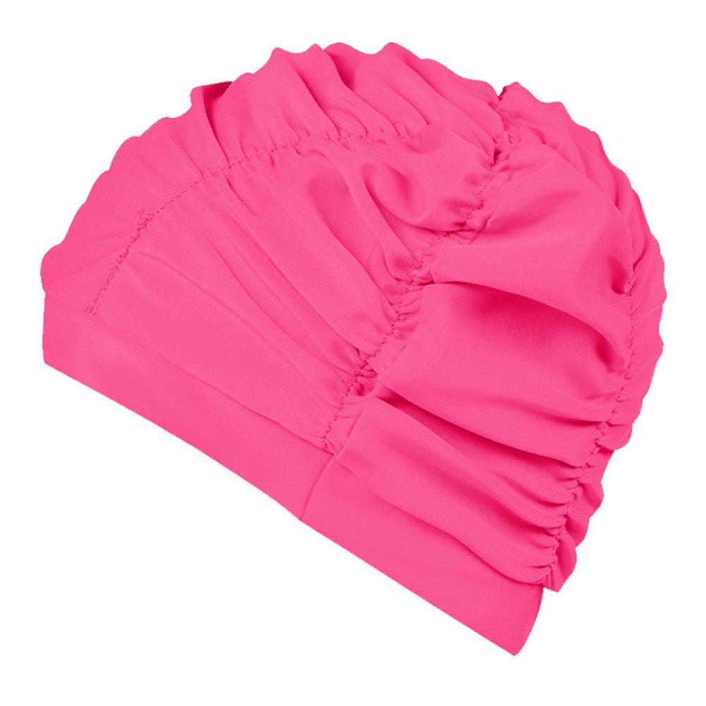 shyymaoyi Unisex Adulto Deportes Elasticidad Swim Cap Long Hair Protector Mantiene el Cabello Limpio Orejas seco Nataci/ón Sombrero