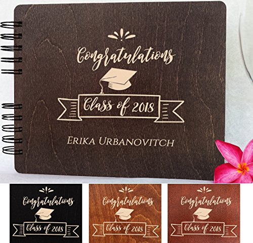 Graduation Wood Guest Book Made in USA (Customize