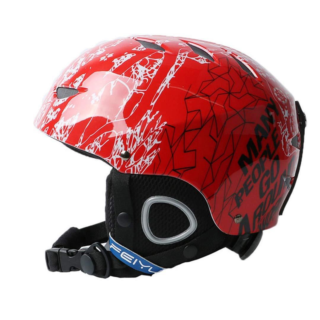 スキー用ヘルメット 新しいワンピースハイエンドキッズスキーヘルメットエクストリームスポーツ保護具のベニヤダブルプレート暖かい風の雪のヘルメット子供 B07PM1MLP1 Medium|Red Red Medium