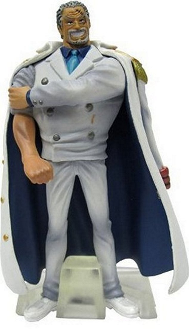 "One Piece Marine Absolute Justice Trading Figures With Base ~4"" - Vice Admiral Monkey D Garp"