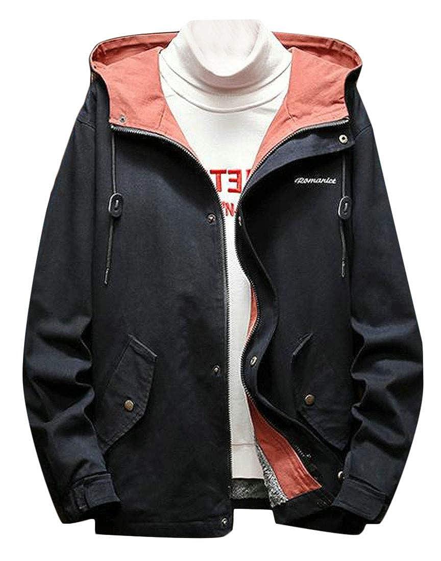 Macondoo Mens Winter Casual Jacket Fleece Plus Size Hooded Parka Coat Jacket