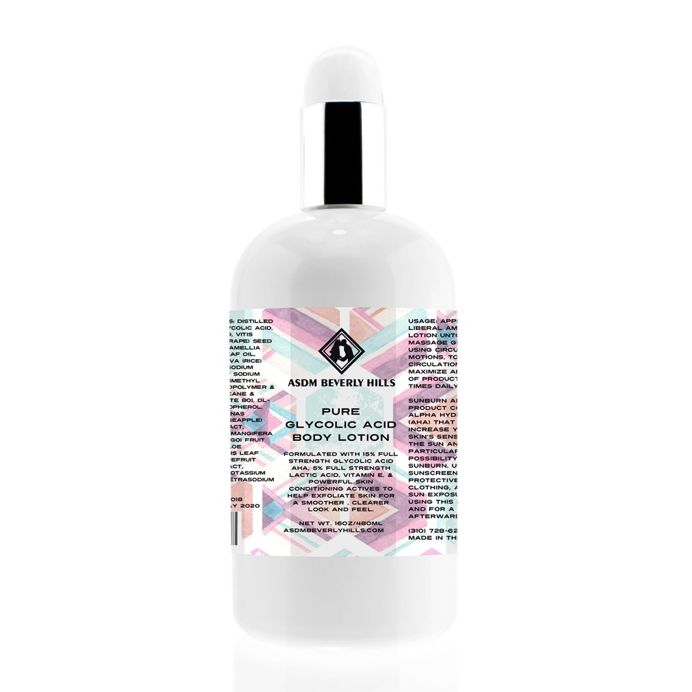Glycolic Lotion Body 15% with Lactic Acid, Vitamin E, and Pineapple Extract ASDM Beverly HillsTM