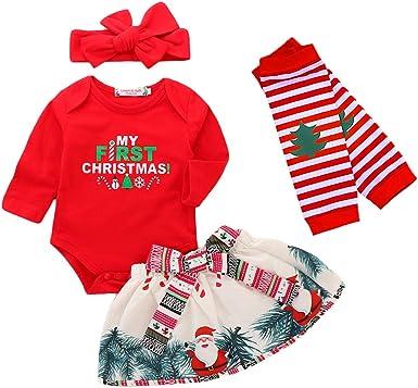 puseky Baby Boy Girl Long Sleeve Christmas Santa Baby Plaid Romper Jumpsuit Pajamas