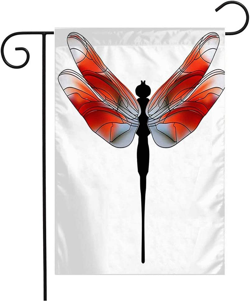 Anmbsk Garden Flag Welcome Flag Drawn Funny Child Awaresome Material Nature Flutters Toy Character Dragonfly Kids Summer Coloring 12x18 Inch Yard Flag Farmhouse Spring Summer Home House Lawn Decor