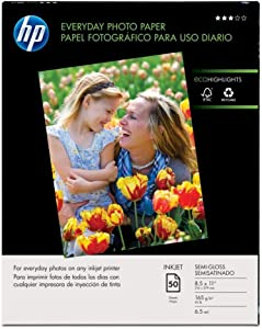 "Hewlett Packard (HP) Q8723A Glossy Everyday Photo Paper (8.5"" x 11"")"
