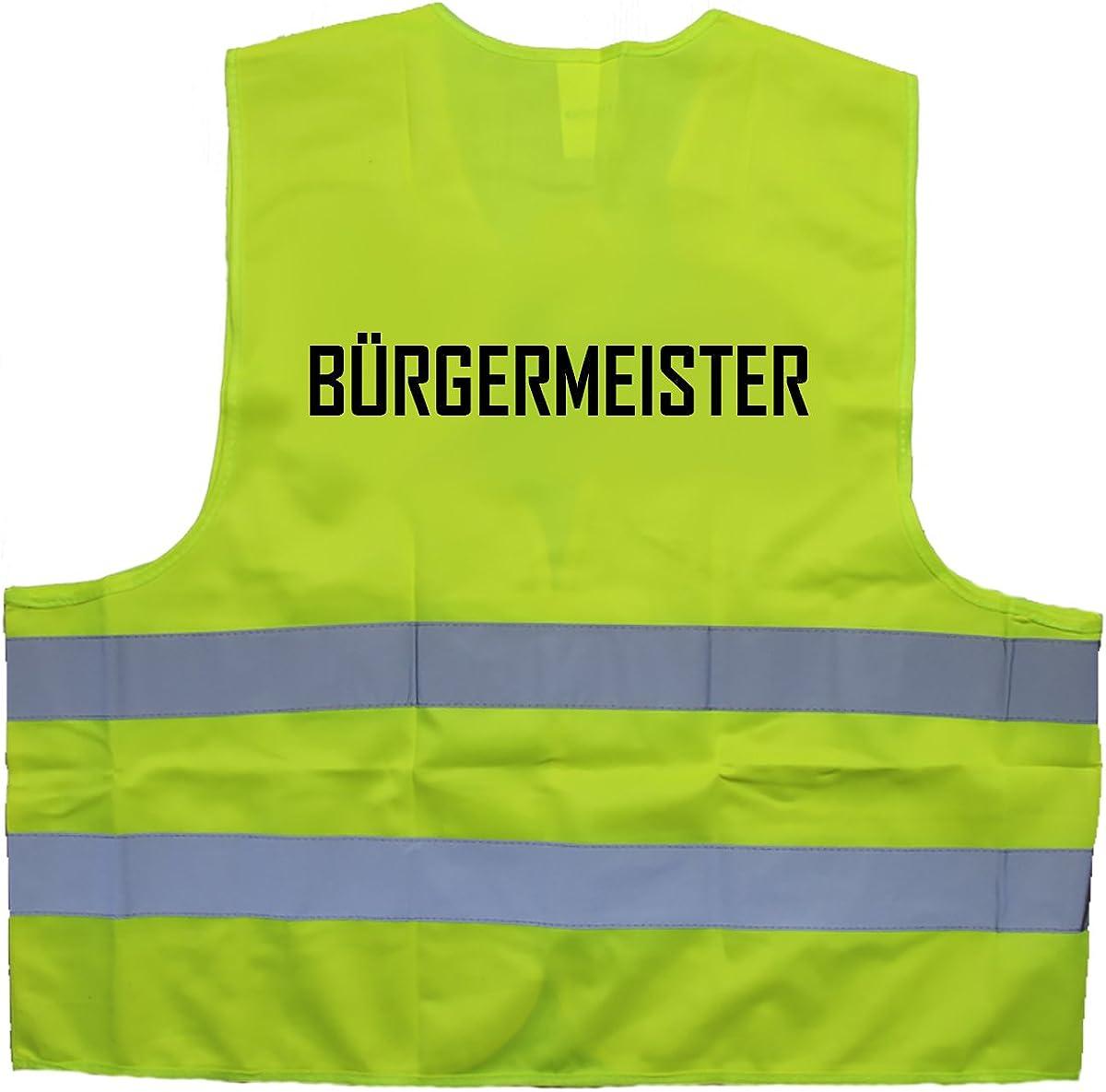 Einheitsgr/ö/ße bis XXL B/ürgermeister Warnweste
