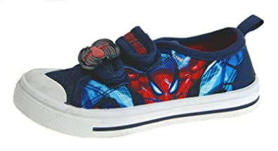 1c59af7993b66 Ultimate Spiderman Boys Canvas Slip On Pumps Trainers Shoes: Amazon ...