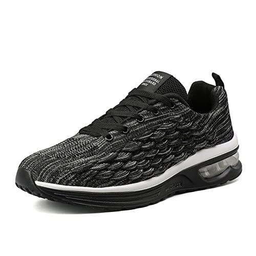 e4eb5f38ba1c4 No.66 TOWN Men's Breathable Air Cushion Flying Weaving Mesh Athletic  Running Walking Gym Shoes Casual Sneakers