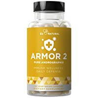 Armor 2 ANDROGRAPHIS Pure 800 MG – Healthy Immune System Function, Physical Wellness, Potent Strength for Seasonal Protection – Full-Spectrum & Standardized – 60 Vegetarian Soft Capsules