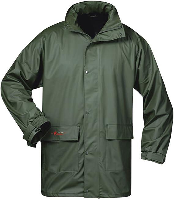 Arbeitsjacke Regenjacke Mantel Jacke Regenmantel Wetterjacke wasserdicht KPD-GR