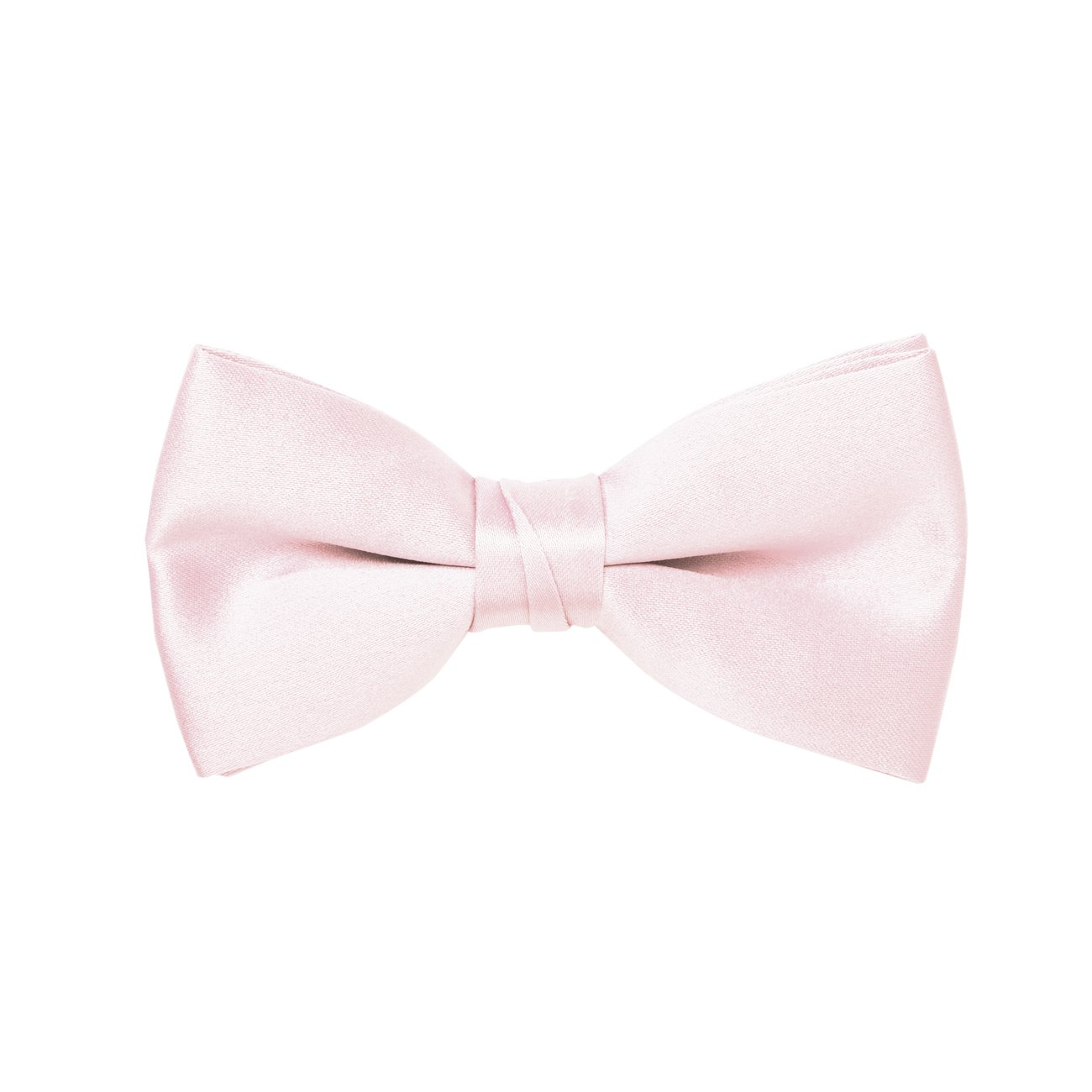Light Pink Satin Boys 2 Bow Tie
