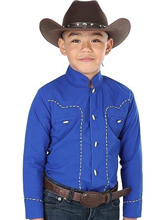 Camisa Vaquera Charra M/Larga El General 65% Polyester 35% Algodón ID 40355