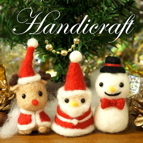 Amazon.com: DIY Key Chain Felt Kit Christmas Snowman By Daiso Japan: Arts, Crafts & Sewing