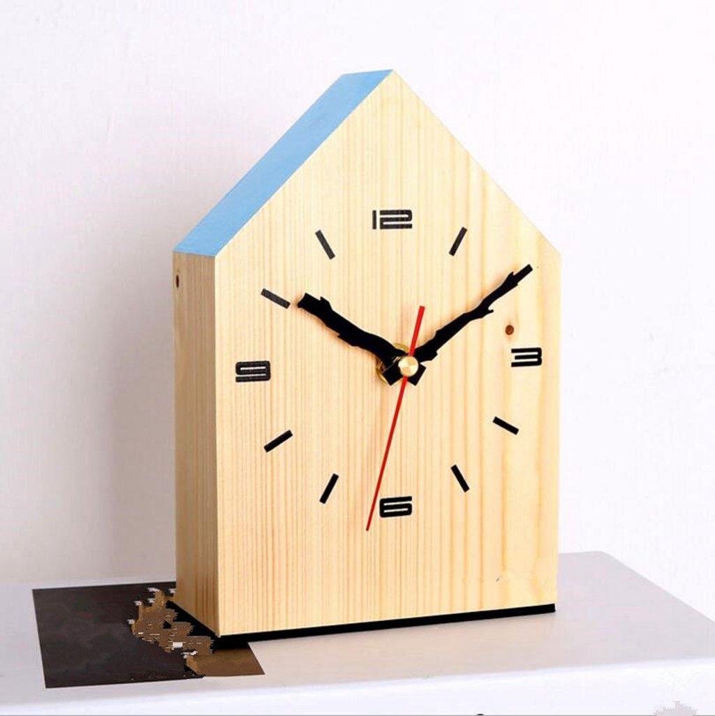 Sucastle Desktop, Clocks, solid wood, Clock, living room, simple, modern, innovative, desktop, mute (Without battery) GXFC
