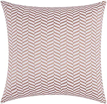 Nourison Mina Victory Alternative Chevron Mina Victory Sw513 Rosgd Decorative Pillow, 20 X 20 , Rose Gold