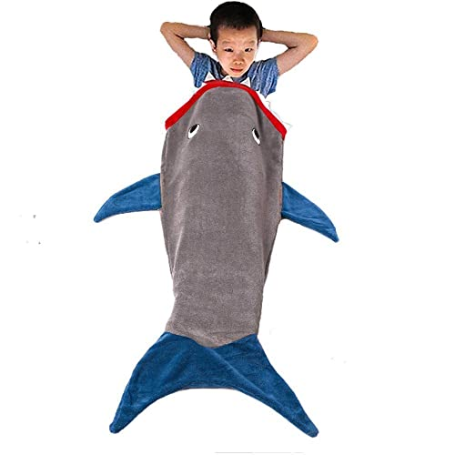 Langria Soft Flannel Full Body Mermaid Tail Blanket With