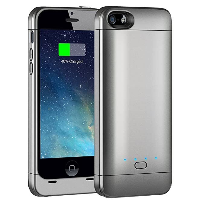 Carcasa para iPhone 5/5S/5C, con batería recargable externa ...