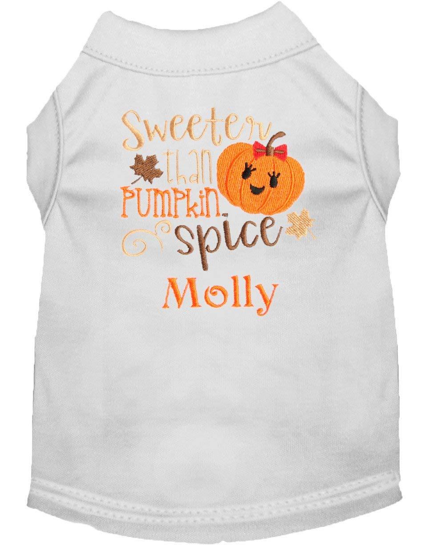 Sweeter Than Pumpkin Spice Personalized Custom Dog Shirt Pet Tee
