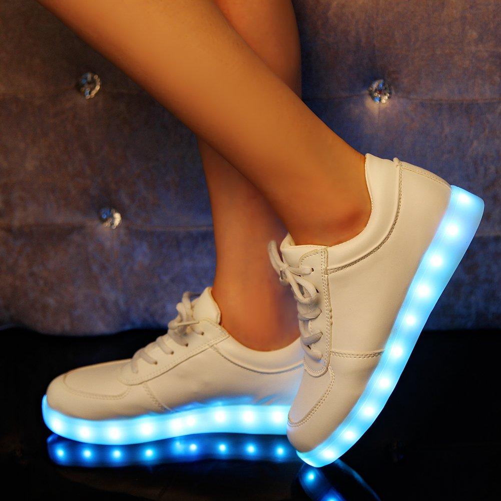 iikids Colorido LED zapatos de carga USB Parejas zapatos de la Moda Zapatillas con ruedas led deportivas carrefour: Amazon.es: Zapatos y complementos